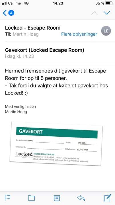 Gavekort Escape Room